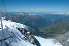 Rock and snow view from Jungfraujoch in Switzerland Royalty Free Stock Images