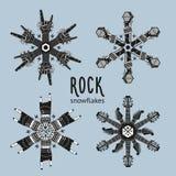 Rock Snowflakes Set Stock Photo