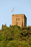 Rock of Solferino. Tower of the fortress of Solferino Sunset Stock Photography