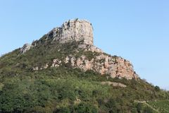 Rock of Solutre, France Stock Photo