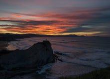 The rock. In Sopelana beach Stock Photo