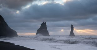 Reynisfjara close to Vik, Iceland, Europe stock image