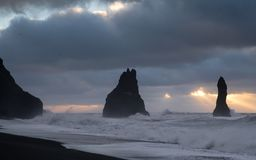Reynisfjara close to Vik, Iceland, Europe stock photography