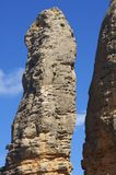 Rock spire. View of Aguero Mountains, Huesca, Aragon, Spain Stock Photos