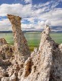 Rock Spires, Mono Lake, California. Bizarre rock spires formation, Mono Lake, California Royalty Free Stock Photos