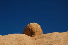 Rock at Spitzkoppe (Namibia). Abstract rock formation at Spitzkoppe Mountain (Namibia royalty free stock photo