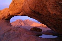 rock spitzkoppe słońca Zdjęcie Royalty Free