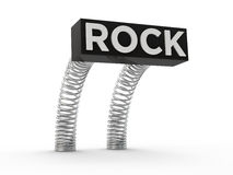 Rock on springs Royalty Free Stock Image