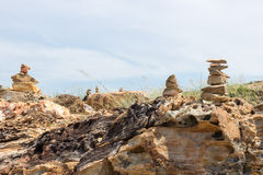 Rock Stack. On Laem Ya Pier at Kao Laem Ya-Moo Koh Samed National Park ,Thailand Stock Photo