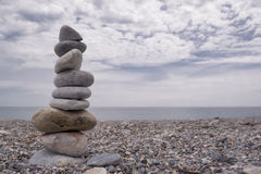 Rock Stack (Cairn) at Rapid Bay, South Australia Royalty Free Stock Images