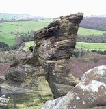 Rock Stack in the Derbyshire Peak District countryside Royalty Free Stock Photography