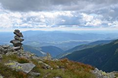 Rock stack in low tatras Stock Photography
