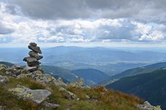 Rock stack in low tatras Royalty Free Stock Photography