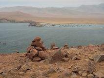 Rock stack by the sea Royalty Free Stock Photography