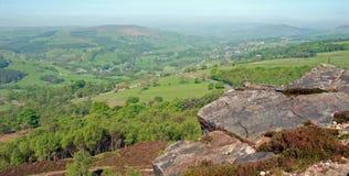 Rock stack View over Peak District Stock Photos