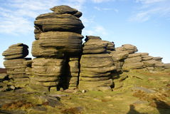 Rock Stacks in the Sheffield Peak District Royalty Free Stock Image