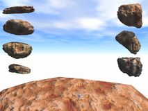 Rock Stage. A boulder stage framed by floating rocks Royalty Free Stock Image