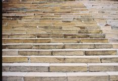 Rock stair Taiwan. By film camera Royalty Free Stock Images