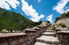 Rock stair. A rock stair way on tibetan plateau Stock Image