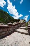 Rock stair. A rock stair way on tibetan plateau Stock Photo