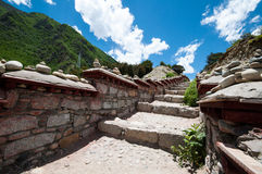Rock stair. A rock stair way on tibetan plateau Stock Photography