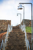 Rock stair way Stock Photos