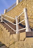 Rock stairs. Stairs from the Constanta Casino Stock Photography