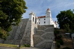 Rock Stairs to the Bratislava Castle Stock Photo