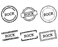Rock stamps Royalty Free Stock Photography
