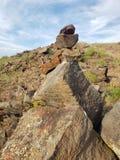 Rock stapla arkivfoton
