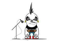 Rock Star. An illustration of an alien rock star Royalty Free Stock Photography
