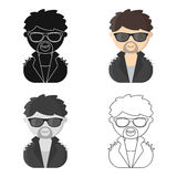 Rock star cartoon icon. Illustration for web and mobile design. Stock Photography