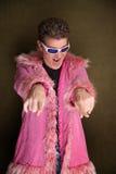 Rock star dell'emulo di personaggi famosi Immagine Stock Libera da Diritti