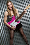 Rock Star Girl Stock Photo