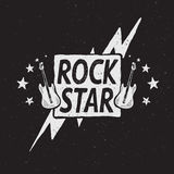 Rock star grunge label Royalty Free Stock Photo