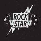 Rock star grunge label. Prints design for t-shirts or other uses royalty free illustration