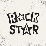 Rock star grunge text Stock Photography