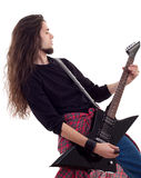 Rock star with a guitar Royalty Free Stock Photo