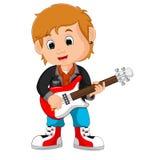 Rock Star Guitar Player. Illustration of Rock Star Guitar Player Stock Image