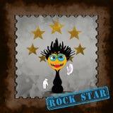 Rock Star - cartoon character Royalty Free Stock Photography
