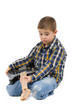 Rock star kid Stock Photos