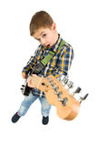 Rock star kid Royalty Free Stock Photos