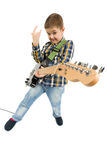 Rock star kid Stock Images