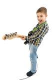 Rock star kid stock image
