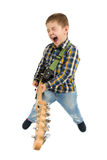 Rock star kid Royalty Free Stock Image