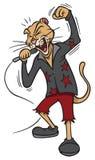 Rock star lion. Cartoon illustration of a rock star lion Stock Images