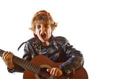 Rock star in the making royalty free stock photos