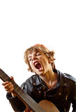 Rock star in the making, portrait Royalty Free Stock Photos