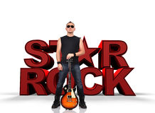 Rock star men Royalty Free Stock Photography