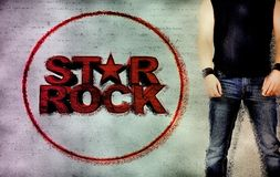 Rock star men Stock Photography